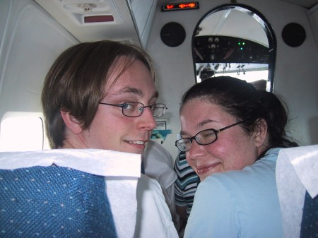 Newly-married Tim and Gennie Henry in Chalk's N2969 enroute from Bimini to Ft. Lauderdale on November 13th, 2005
