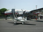 Lockheed Constellation and Mustang II at Greenwood Lake, New Jersey