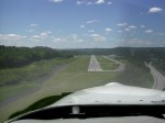 On Final to Runway 25 at Lebanon, NH