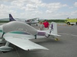 Parked at Qu�bec airport